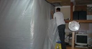 Water Damage Ellenwood Restoration Sealing In Mold With A Vapor Barrier